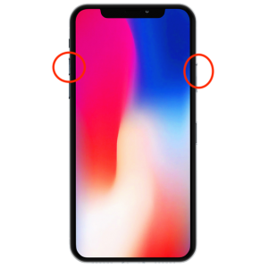How to take screenshot with iPhone X